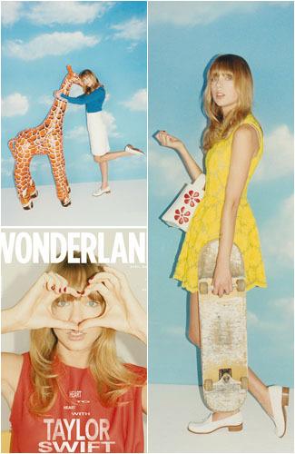 Taylor Swift Berdandan Ala Tahun 70-an di Majalah Fashion 1