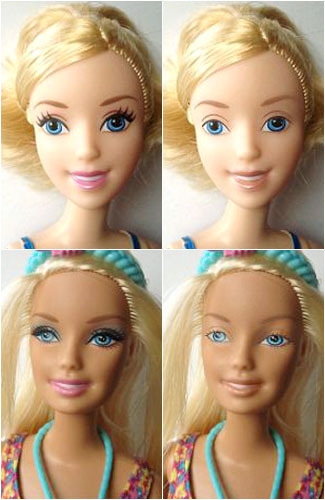 Ini Wajah Asli Boneka Barbie Tanpa Make-up 1