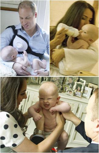 Foto: Pangeran William, Kate Middleton dan Pangeran George Mandi Bareng 1