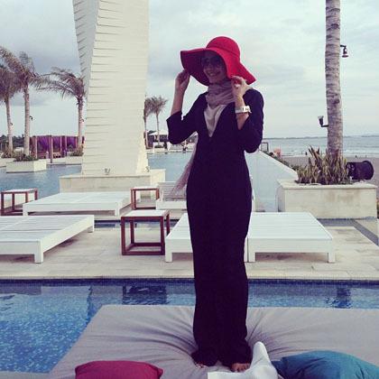 Hijab Style Gaya Hijab Stylish Ala Zaskia Sungkar 2