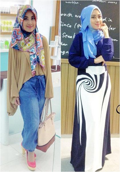 Hijab Style Cantik Feminin Nina Septiani Pemenang World Muslimah 2012