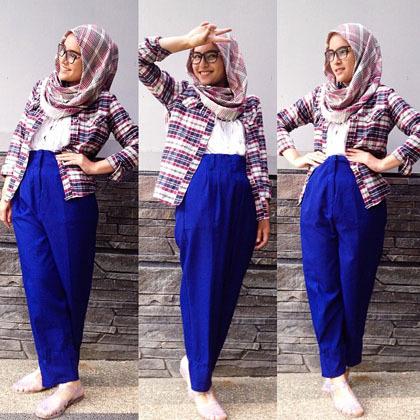 Hijab Style Gaya Hijab Simple Si Cantik Zahratul Jannah 5