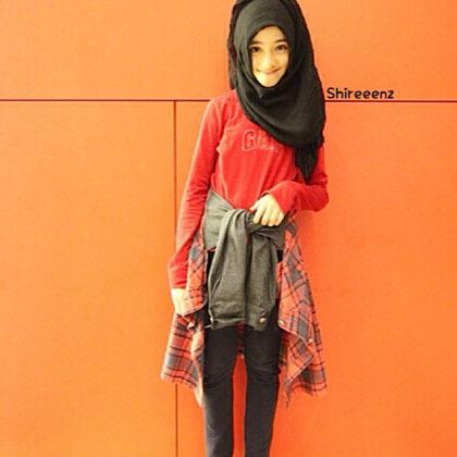 Hijab Style Gaya Stylish Shireeenz Remaja Yang Populer Di Instagram 3