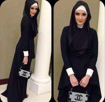 Hijab Style Gaya Cantik Dan Elegan Inneke Koesherawati 4