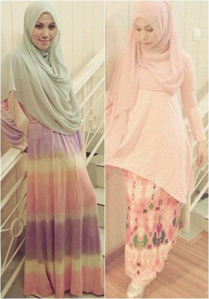 Hijab Style Puput Melati Tampil Feminin Dengan Gaya Busana Serba Pink