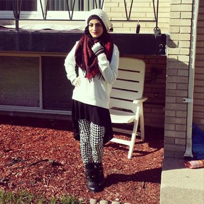 Hijab Style Gaya Modis Untuk Musim Dingin Ala Model Amerika Rula La Bella 7