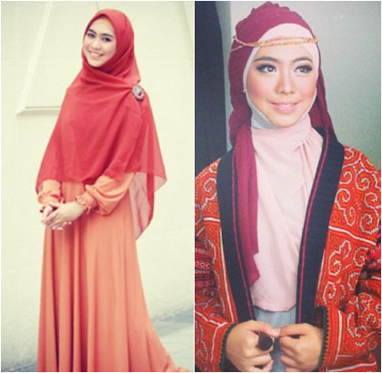 Hijab Style Gaya Hijab Oki Setiana Dewi Yang Simple Dan