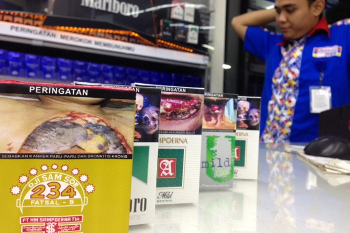 Ini Dia Penampakan Rokok dengan Gambar-gambar Seram di Minimarket