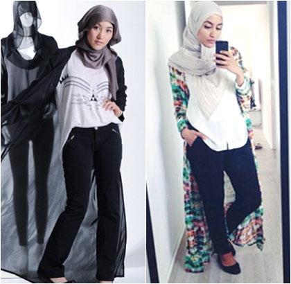 Hijab Style Tren Cardigan Semata Kaki Ala Hijabers Untuk