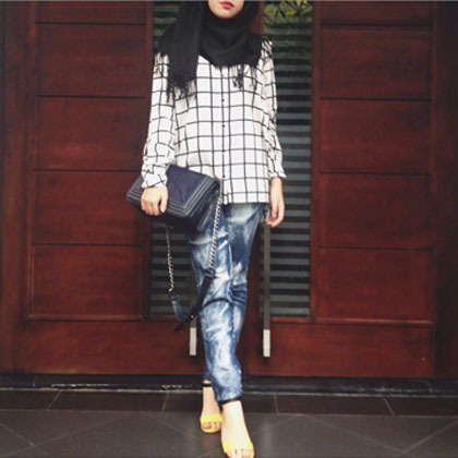 Hijab Style Tampil Edgy Ala Dianisa Shafana Hijabers