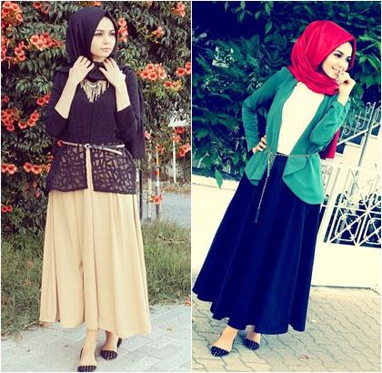 Hijab Style Padu Padan Rok Panjang Ala Hijabers Cantik Asal Turki Sena