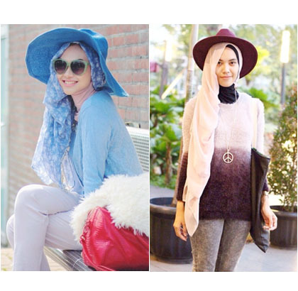 Mix and match topi floppymu dengan warna hijabmu supaya senada! 6dd4e3a445
