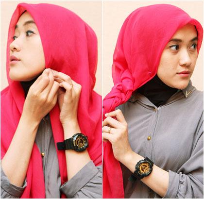 Cara Memakai Jilbab Kepang Blackhairstylecuts Com Tutorial Hijab