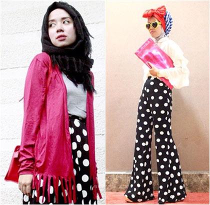 Hijab Style Tips Padu Padan Dengan Celana Hingga Rok Polkadot