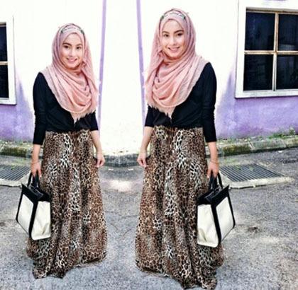 Hijab Style: Tampil Feminin dengan Rok Panjang Ala Si Manis Mya Zulkifli 5