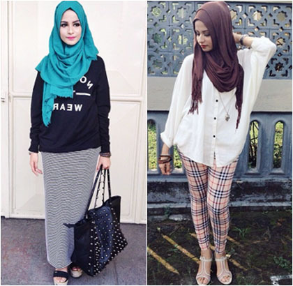 Hijab Style Bergaya Kasual Ala Blogger Cantik Nabila Abdat