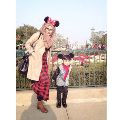 Hijab Style Gaya Stylish Ibu Anak Ala Selebgram Rezky Amelia Dan Daffa 6