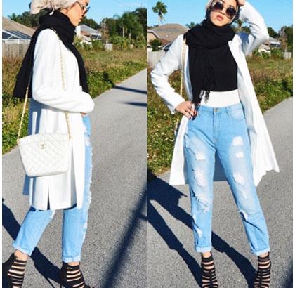 Hijab Style Padu Padan Jeans Ala Hijabers Palestina Sally Omo 2