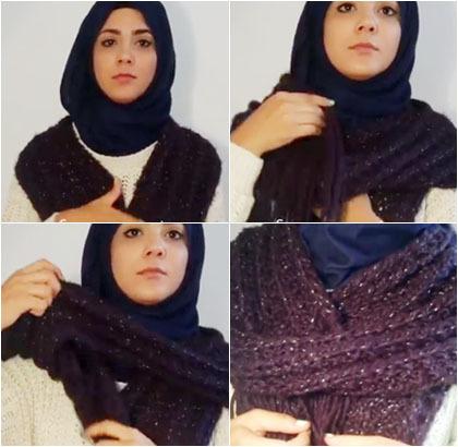 Hijab Style: 6 Trik Lilitkan Syal Saat Musim Dingin untuk Tampil Modis 6