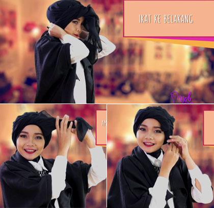 Tutorial Hijab Turban Tanpa Peniti dengan Jilbab Paris Hanya 20 Detik