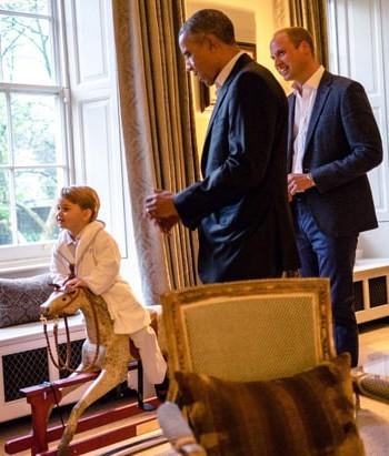 Lucunya Pangeran George Saat Temui Presiden Obama