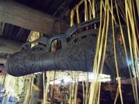 Ukiran kayu pada Tifa