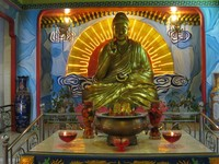 BUDDHA. Salah satu patung Buddha berukuran raksasa di Vihara Buddha Ci Kung.
