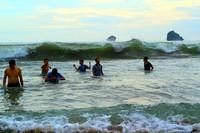 Bermain air di Pantai Bajul Mati