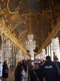 Galeri Kaca, tempat pesta dansa istana (Foto: Fitraya/detikTravel)