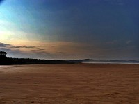 Hamparan pasir pantai