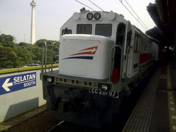 Kereta di Gambir (dok. Sastri/detikTravel)