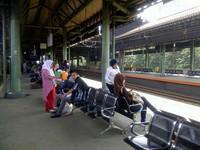 Suasana di peron (dok. Sastri/detikTravel)