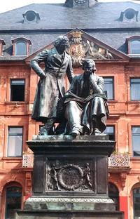 Patung Grimm bersaudara (wikipedia.org)