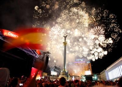 Pendukung Spanyol di Kiev Berpesta di Tempat Ini