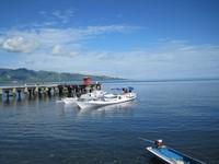 Dermaga di pelabuhan ikan Mamuju yang indah