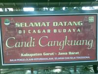 Papan petunjuk di Candi Cangkuang