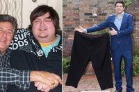 Ketika ibunya meninggal dunia, Matthew Briggs melampiaskan rasa stres pada makanan. Ini membuat berat badannya terus meningkat. Saat ibu tirinya mengupload foto di Facebook, ia terpana dengan gambar dirinya yang berukuran 2 kali lipat dibanding sang ayah. Ia mulai ikut program penurunan berat badan, mengatur pola makan dan olahraga, yang membuatnya berhasil menurunkan berat badan sebanyak 110 kg. (Foto: Huffingtonpost)