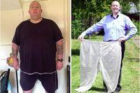 Paul Palmer memiliki bobot mencapai hampir 222 kg. Di usianya yang masih sangat produktif, Paul hampir tidak bisa mendapatkan pekerjaan karena bobotnya yang terlalu besar. Paul memutuskan menurunkan berat badan dengan menghilangkan semua kebiasaan makan tak sehat dn olahraga. Total, ia berhasil turunkan bobot hingga 108 kg. (Foto: Daily Mail)