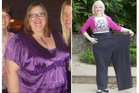 Sue Thompson seringkali menolak di ajak bepergian ke luar negeri, karena dengan bobot 171 kg ia takut tubuhnya tersangkut di kursi pesawat. Ia akhirnya bergabung dengan klub penurun berat badan, berhenti makan junk food dan olahraga. Dengan kebiasaan tersebut, Sue berhasil menurunkan bobot sebanyak 101 kg. (Foto: National Picture)