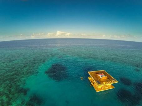 Keren! Kamar Hotel Ini Mengambang di Samudera Hindia