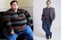 Rob Gillet dijuluki 'manusia donat' karena dengan tinggi badan 160 cm ia memiliki lingkar pinggang yang jauh lebih besar yaitu 198 cm. (Foto: LighterLife)