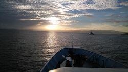 Sunrise yang Indah di Tengah Laut Tidore