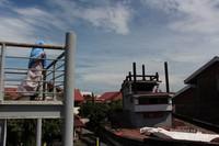 Bagian balkon untuk melihat atas kapal