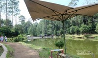 Pengelola Situ Cisanti memasang beberapa tenda-tenda di pinggiran situ, untuk memudahkan pengunjung beristirahat dan bisa lebih menikmati keindahan dan kesejukan alam Situ Cisanti. (Santi Gantini/Detik Travel)
