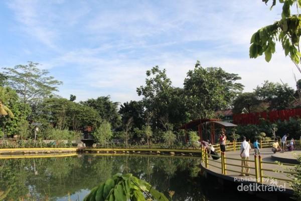Kolam yang ada di Lembah Mawar , membuat suasana lebih asri