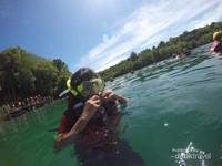 Bersiap snorkling untuk melihat ubur-ubur dengan lebih jelas