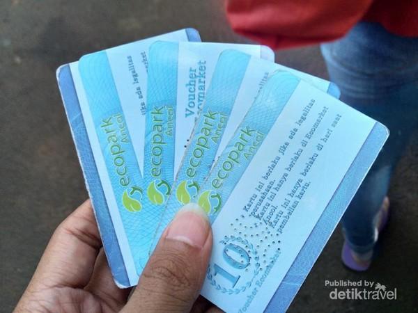 Transaksi di Ecopark menggunakan voucher