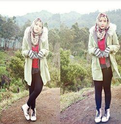 Aisyah Haerani, Pemenang Hijab Hunt 2013 yang Tetap Stylish Saat Naik Gunung