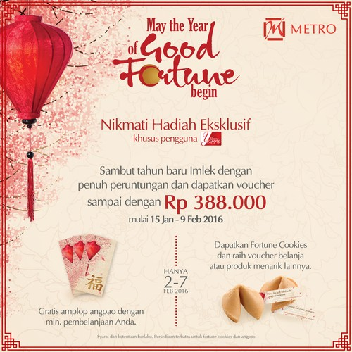 Metro Department Store Hadirkan Program Lucky Angpao