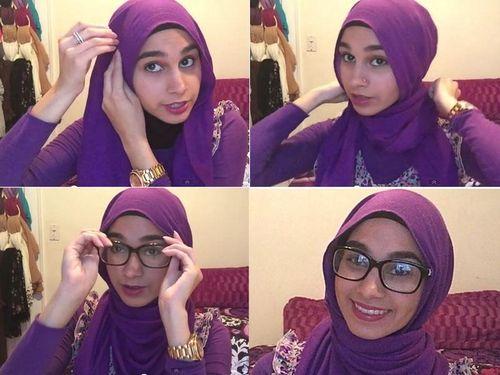 Tutorial Hijab Simpel untuk Si Wajah Bulat dan Berkacamata